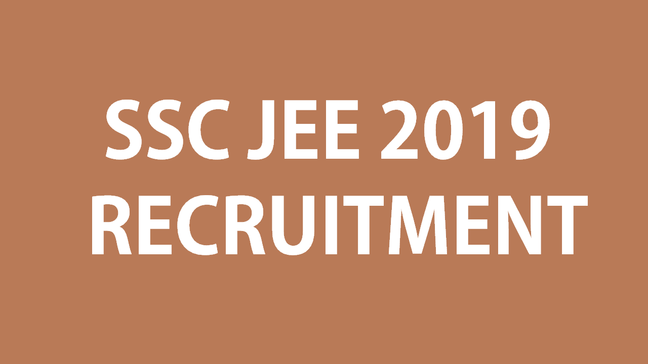 SSC JE 2019 recuitment notification